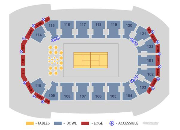 Austin Aces Seating Map