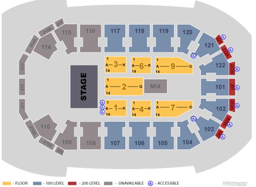 Cirque Dreams Holidaze Seating Map