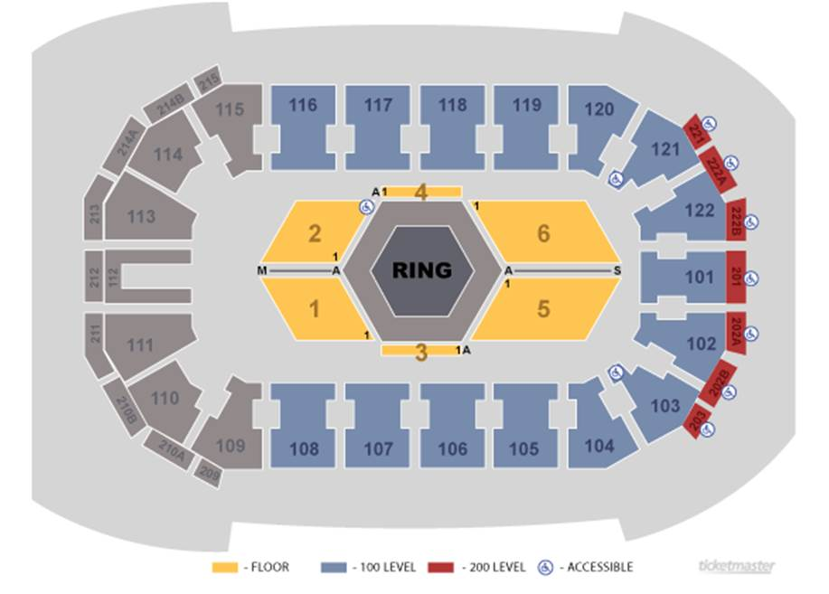 Titan FC 30 Seating Map